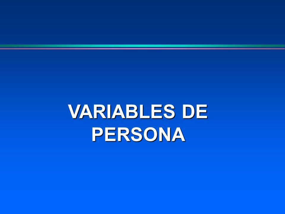 VARIABLES DE PERSONA
