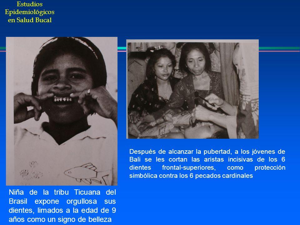 Estudios Epidemiológicos en Salud Bucal