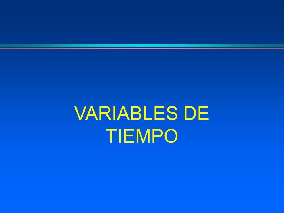 VARIABLES DE TIEMPO