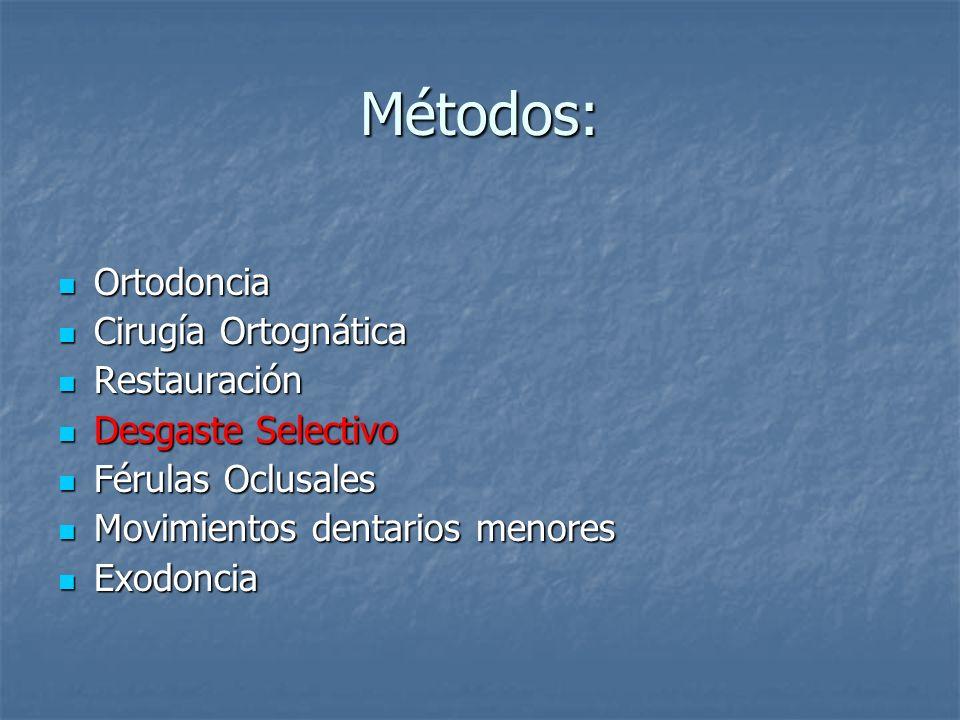 Métodos: Ortodoncia Cirugía Ortognática Restauración