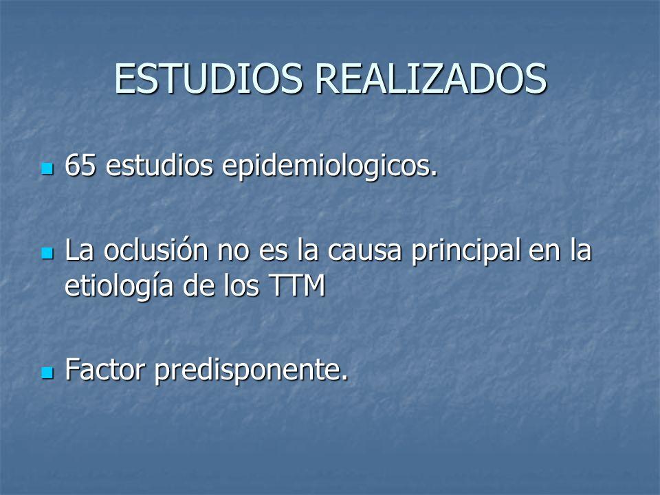 ESTUDIOS REALIZADOS 65 estudios epidemiologicos.