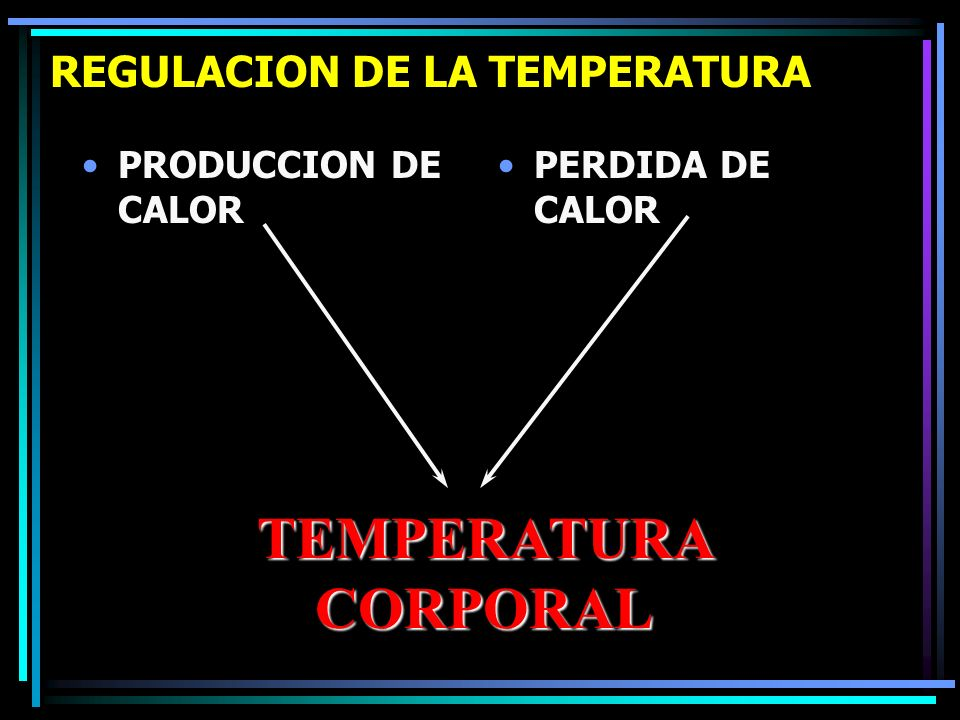 REGULACION DE LA TEMPERATURA
