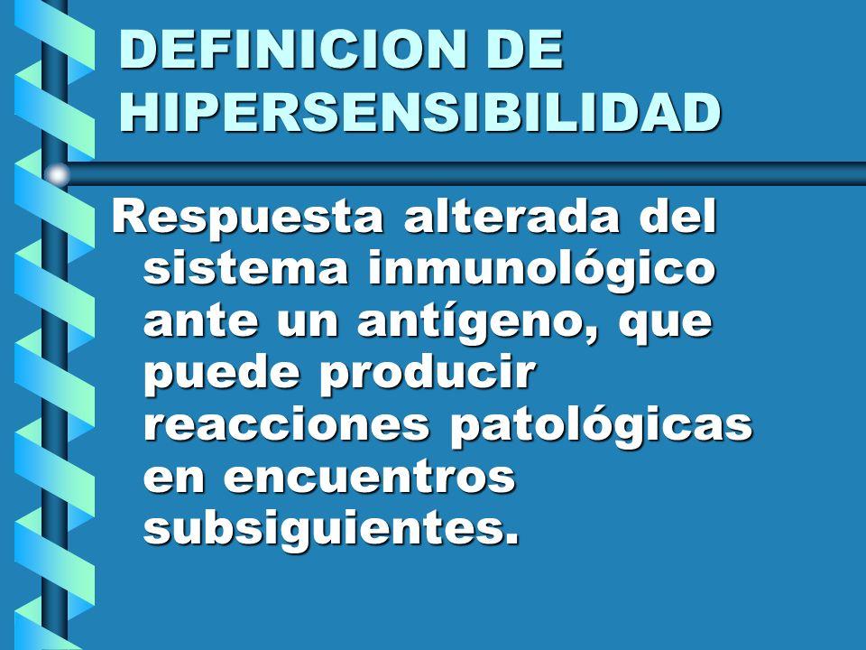 DEFINICION DE HIPERSENSIBILIDAD