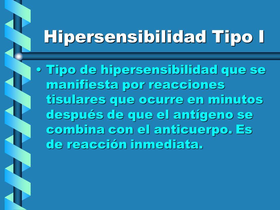 Hipersensibilidad Tipo I