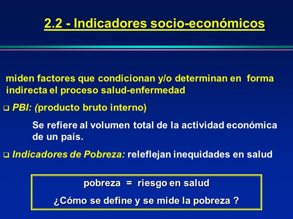 2.2 - Indicadores socio-económicos