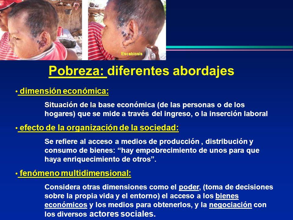 Pobreza: diferentes abordajes