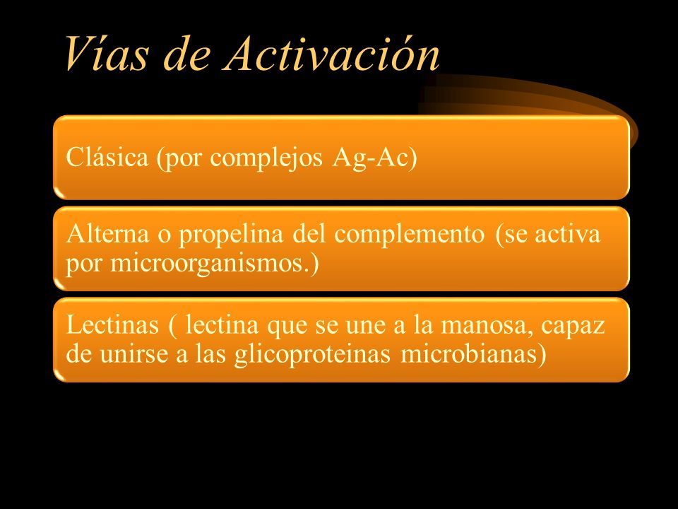 Vías de Activación Clásica (por complejos Ag-Ac)