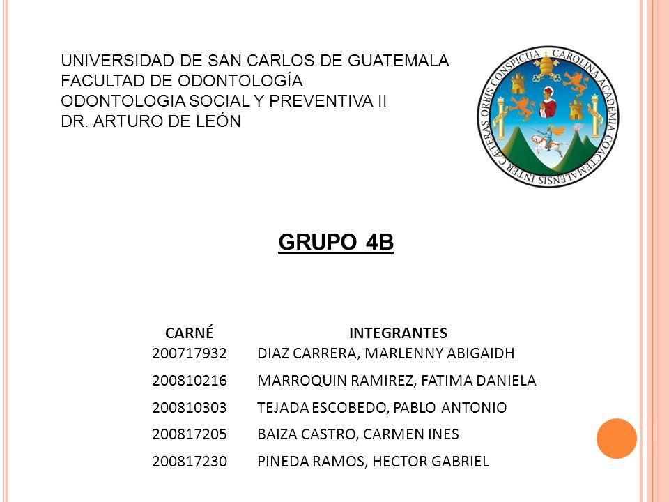 GRUPO 4B UNIVERSIDAD DE SAN CARLOS DE GUATEMALA