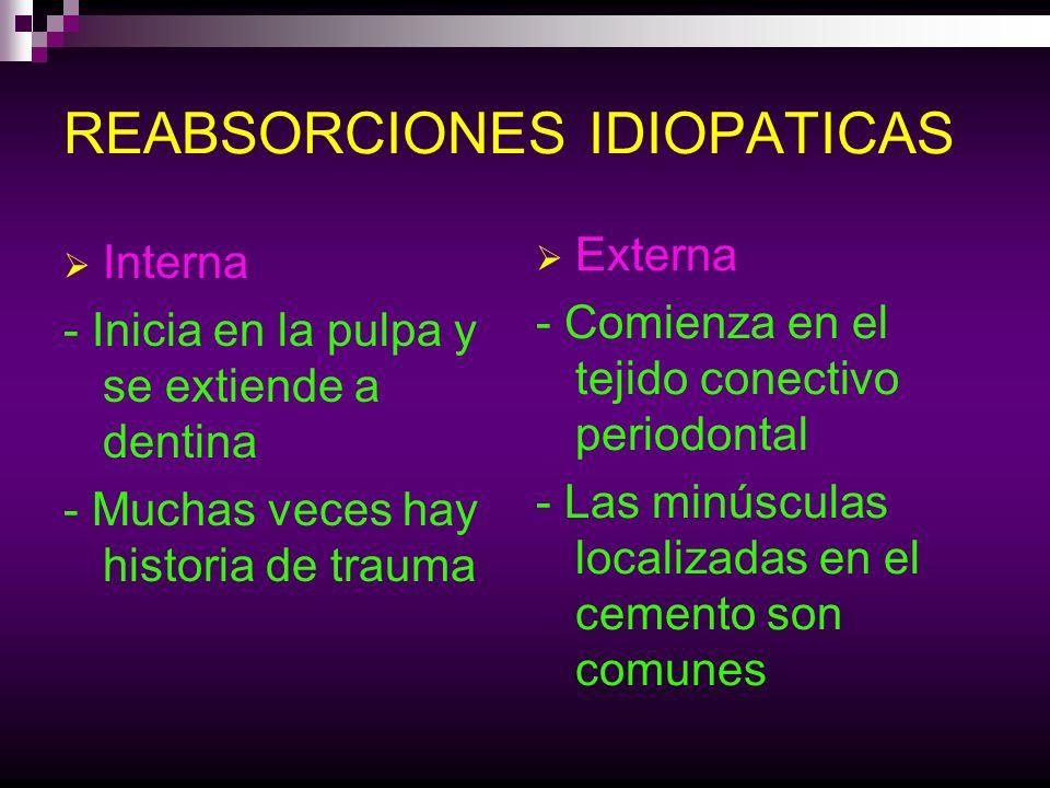 REABSORCIONES IDIOPATICAS