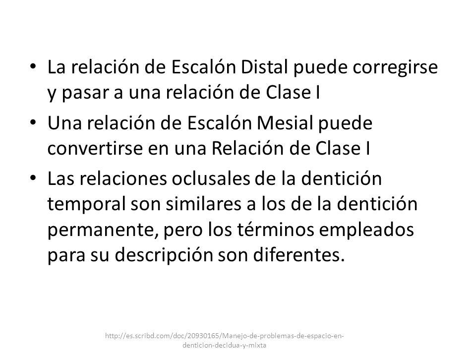 La relación de Escalón Distal puede corregirse y pasar a una relación de Clase I