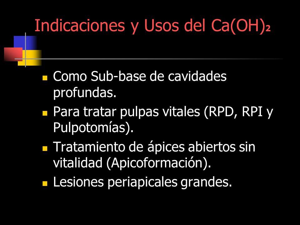Indicaciones y Usos del Ca(OH)2