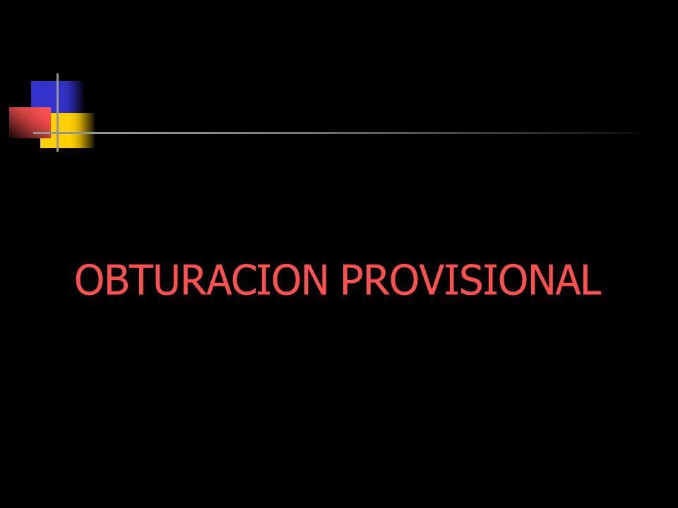 OBTURACION PROVISIONAL