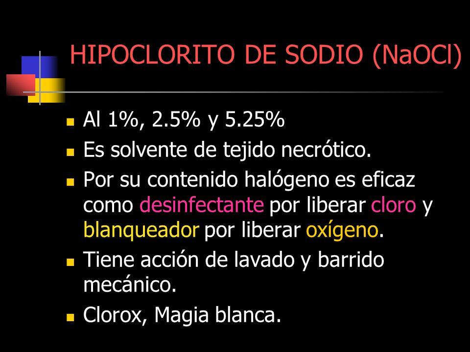 HIPOCLORITO DE SODIO (NaOCl)