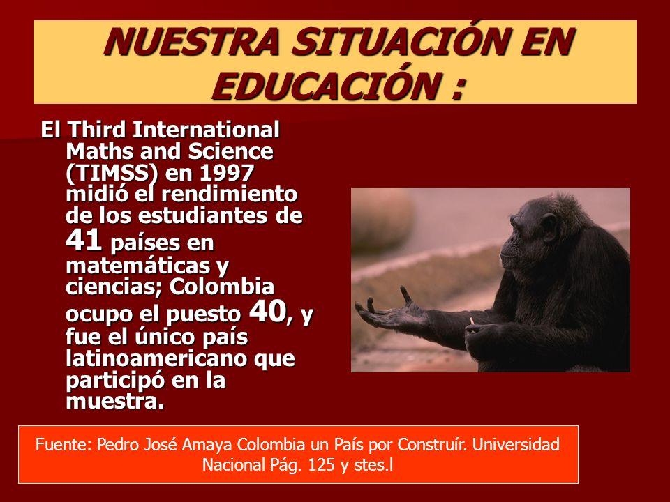 NUESTRA SITUACIÓN EN EDUCACIÓN :