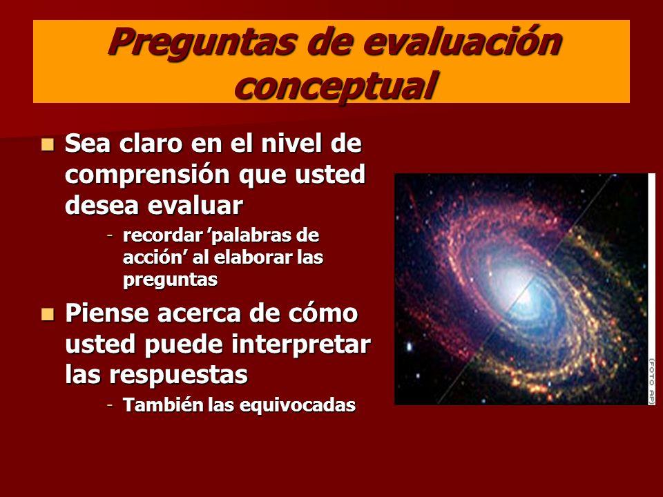 Preguntas de evaluación conceptual