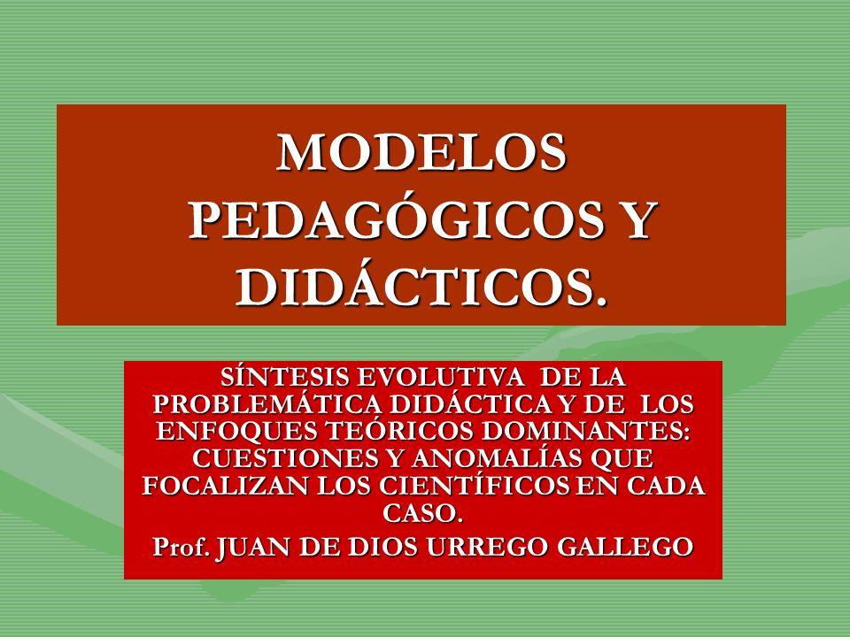 MODELOS PEDAGÓGICOS Y DIDÁCTICOS.