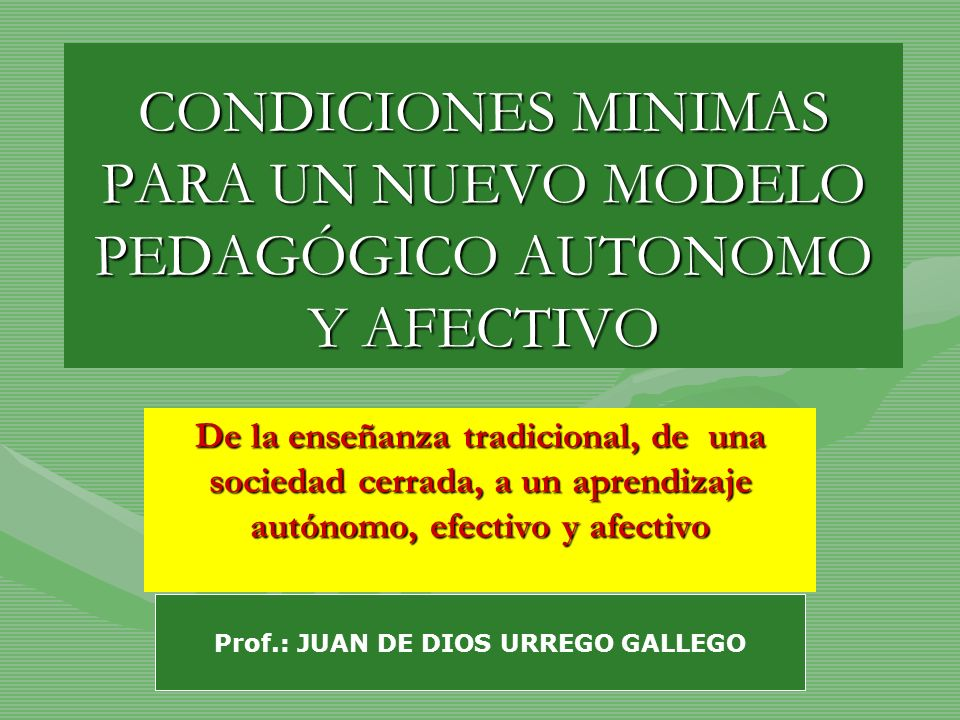 Prof.: JUAN DE DIOS URREGO GALLEGO