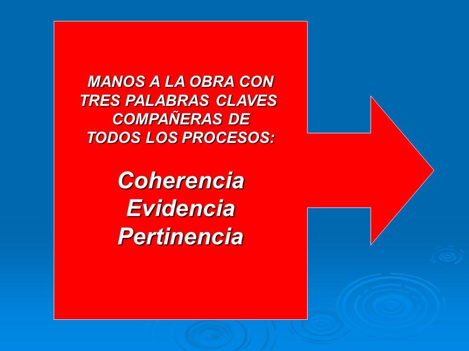 Coherencia Evidencia Pertinencia