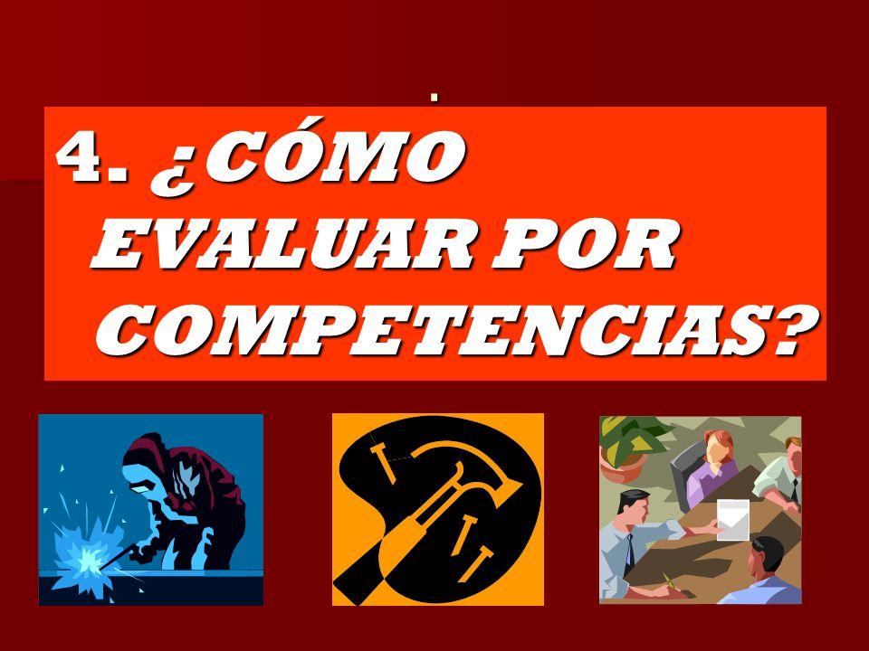 4. ¿CÓMO EVALUAR POR COMPETENCIAS