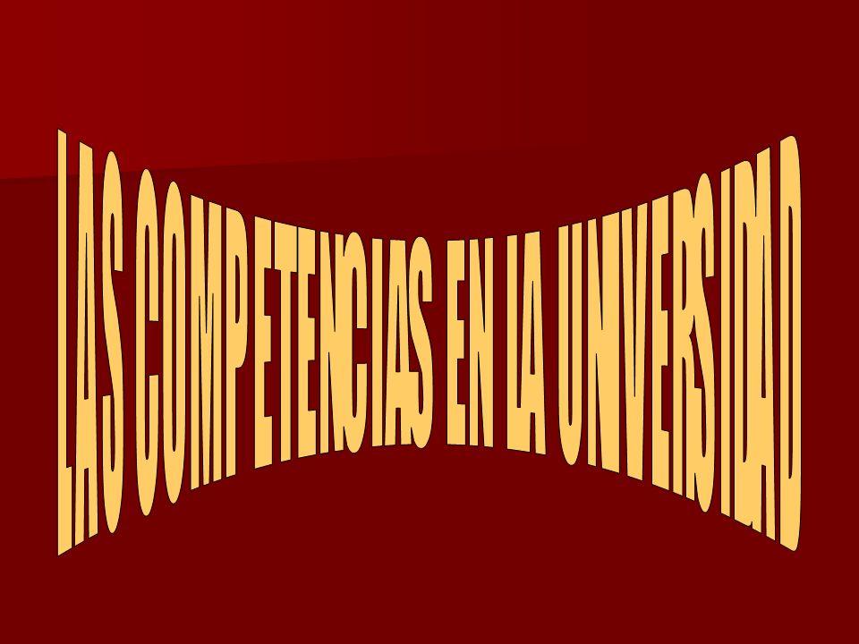 LAS COMPETENCIAS EN LA UNIVERSIDAD