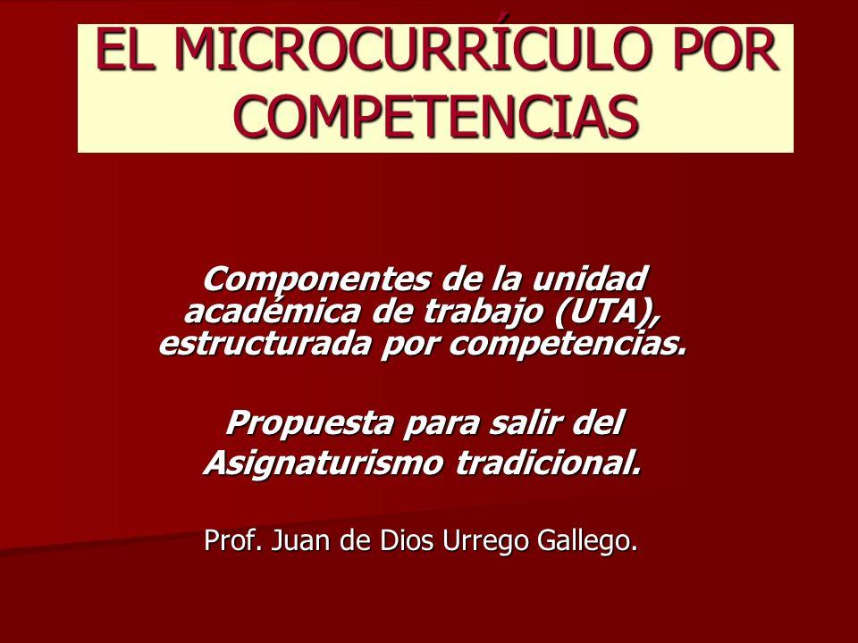 EL MICROCURRÍCULO POR COMPETENCIAS