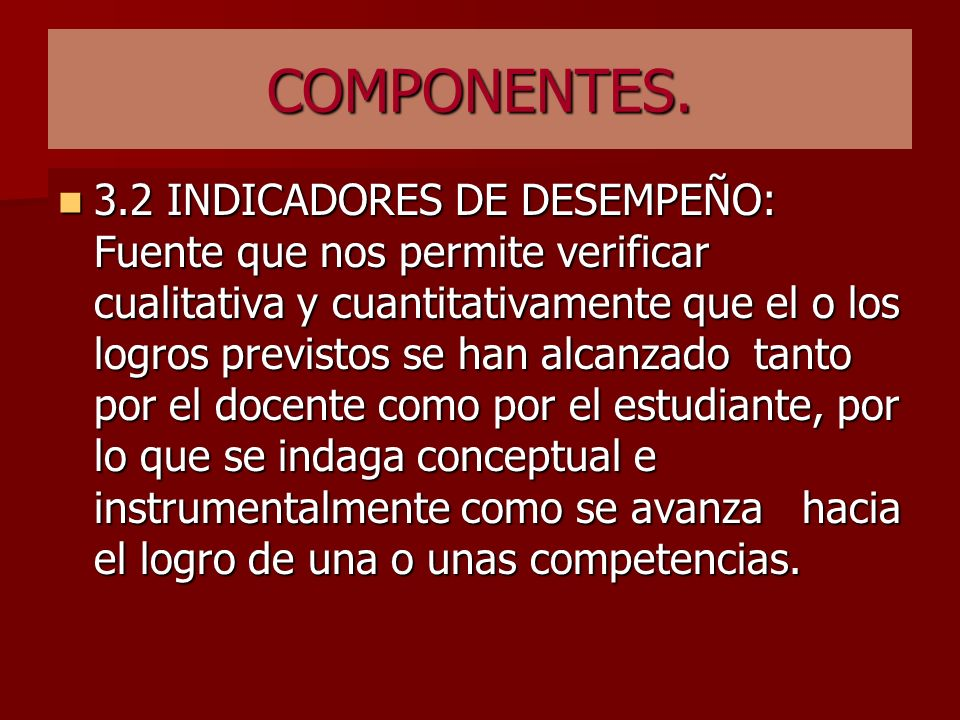 COMPONENTES.
