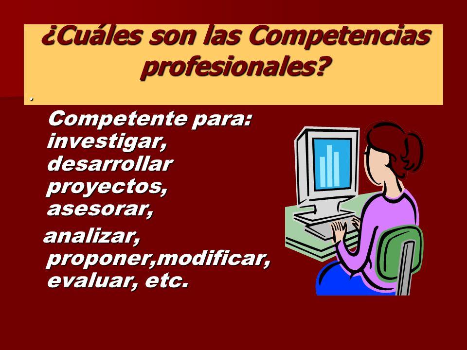 ¿Cuáles son las Competencias profesionales