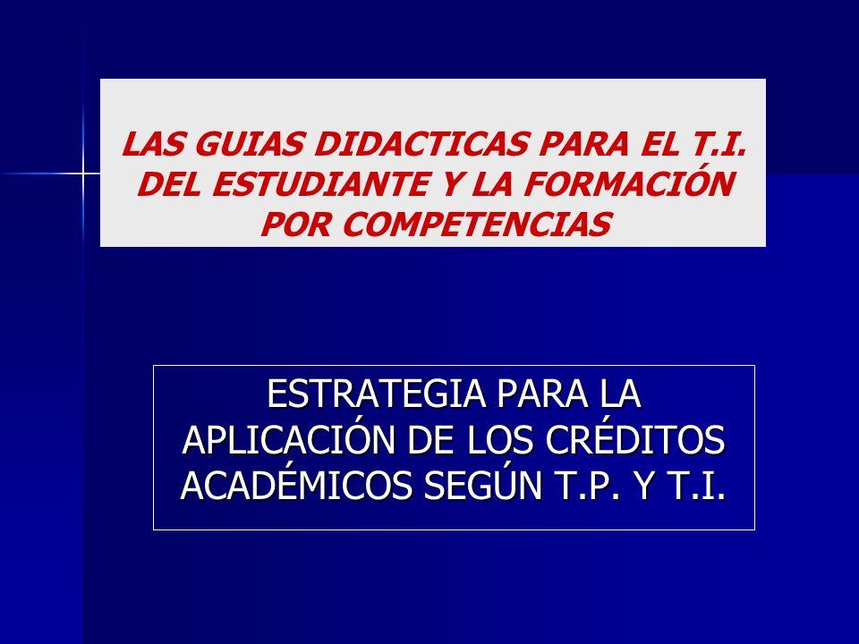 LAS GUIAS DIDACTICAS PARA EL T. I