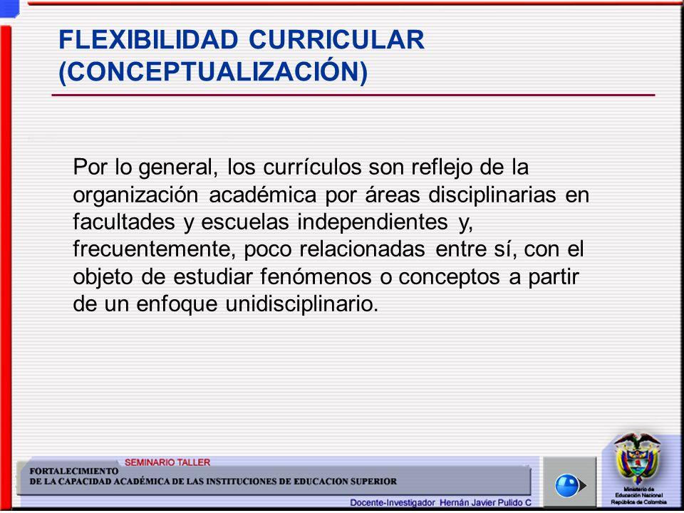 FLEXIBILIDAD CURRICULAR (CONCEPTUALIZACIÓN)