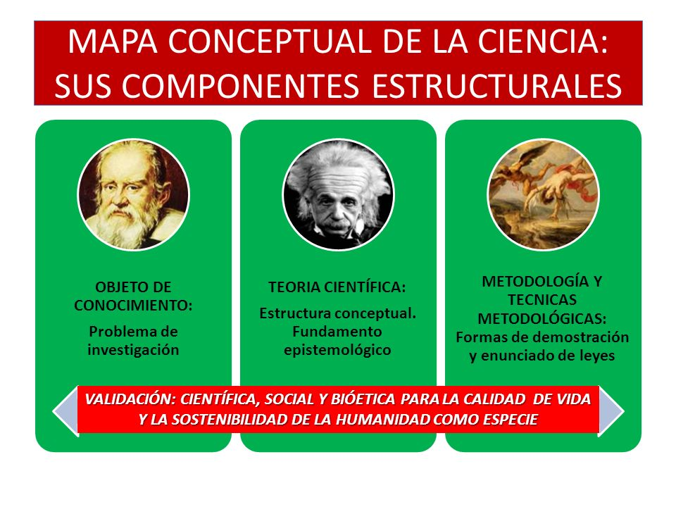 MAPA CONCEPTUAL DE LA CIENCIA: SUS COMPONENTES ESTRUCTURALES
