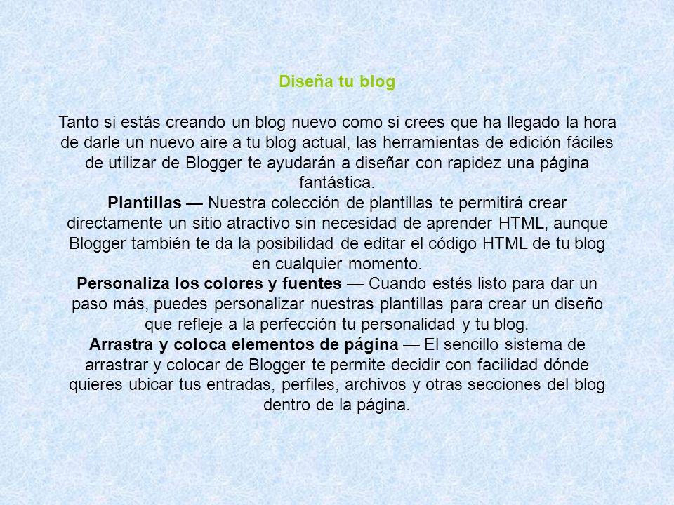 Diseña tu blog