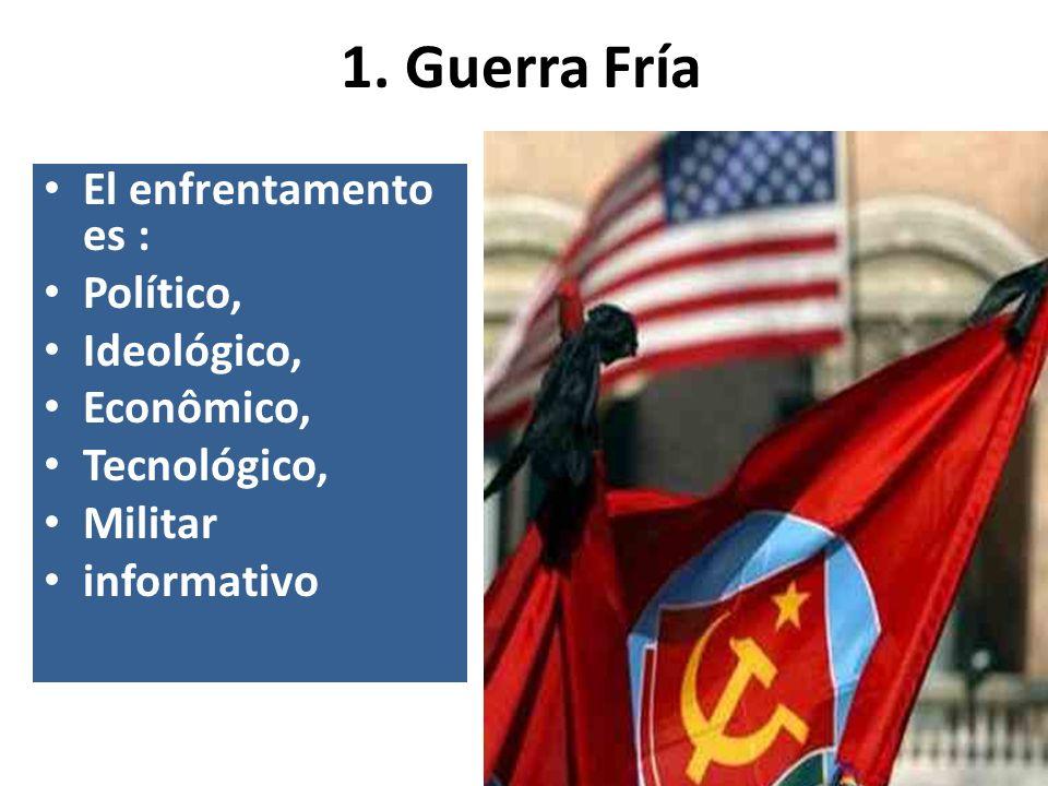 1. Guerra Fría El enfrentamento es : Político, Ideológico, Econômico,