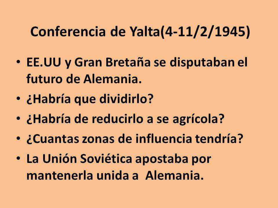 Conferencia de Yalta(4-11/2/1945)