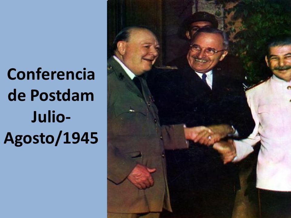 Conferencia de Postdam Julio-Agosto/1945