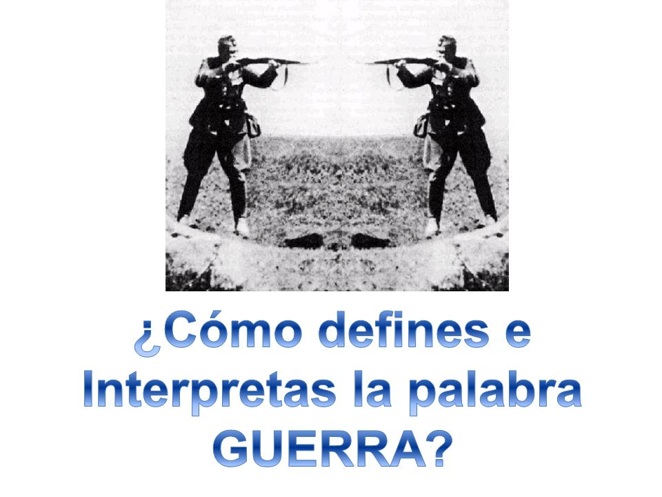 Interpretas la palabra