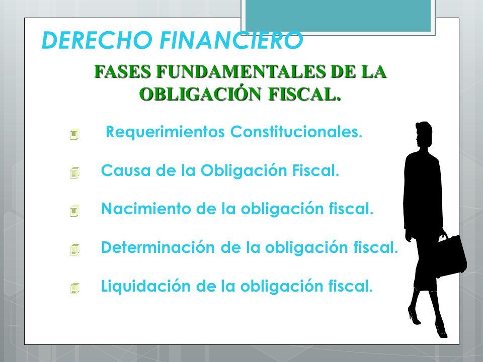 FASES FUNDAMENTALES DE LA OBLIGACIÓN FISCAL.