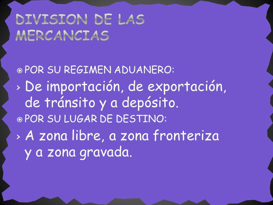 DIVISION DE LAS MERCANCIAS