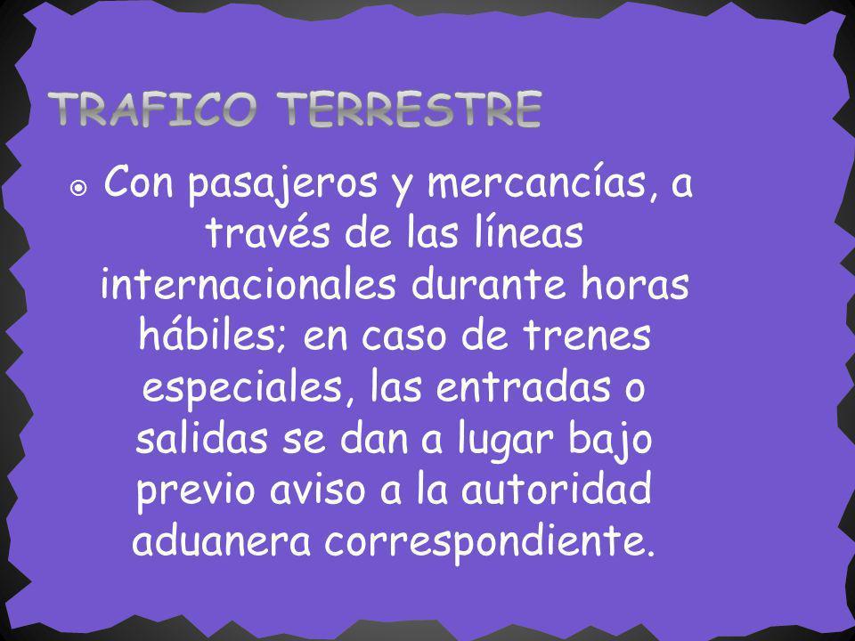 TRAFICO TERRESTRE