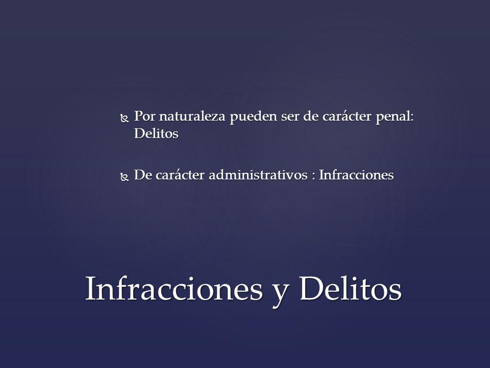 Infracciones y Delitos