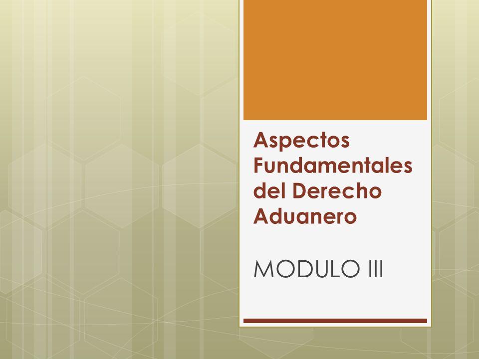 Aspectos Fundamentales del Derecho Aduanero