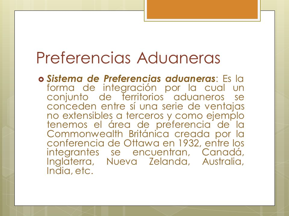 Preferencias Aduaneras