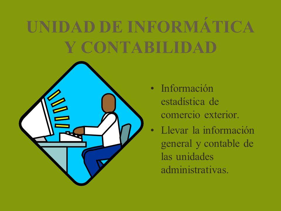 UNIDAD DE INFORMÁTICA Y CONTABILIDAD