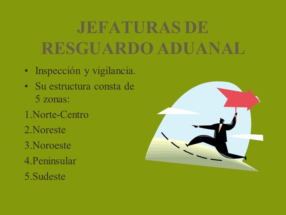 JEFATURAS DE RESGUARDO ADUANAL