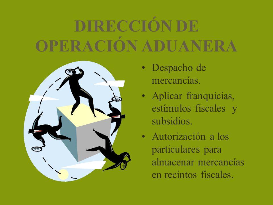 DIRECCIÓN DE OPERACIÓN ADUANERA