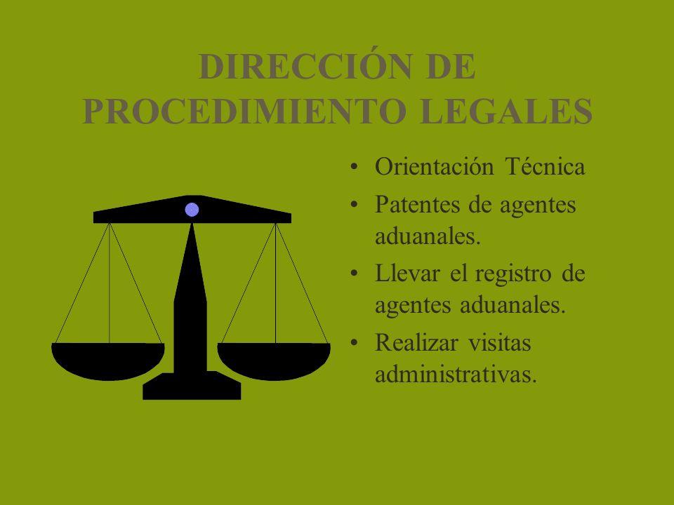 DIRECCIÓN DE PROCEDIMIENTO LEGALES
