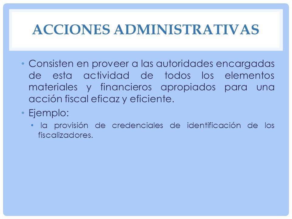 Acciones administrativas
