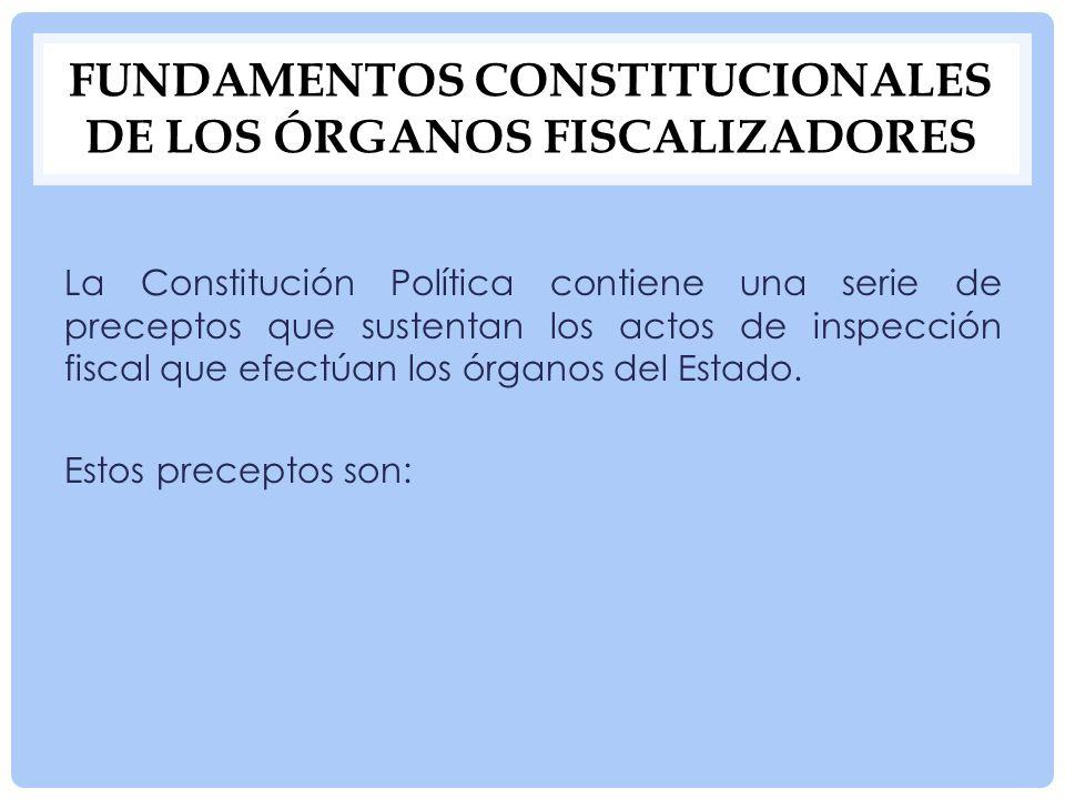 Fundamentos constitucionales de los órganos fiscalizadores