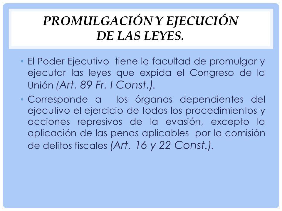 Promulgación y ejecución de las leyes.