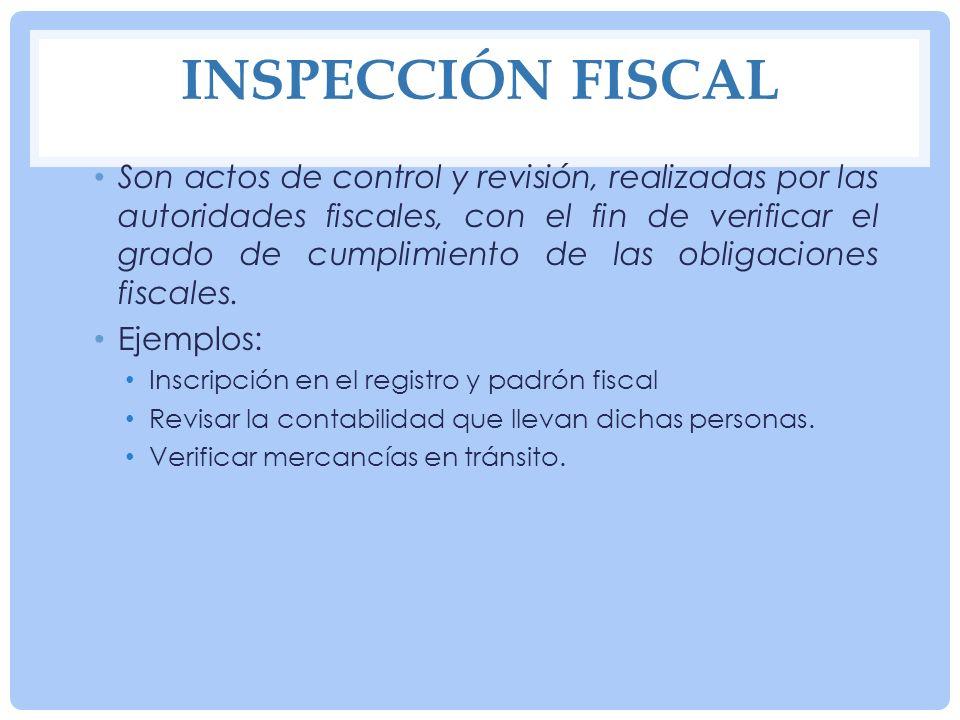 INSPECCIÓN FISCAL