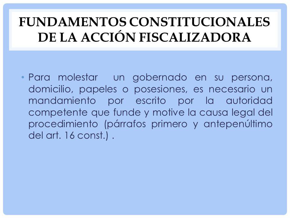 Fundamentos constitucionales de la acción fiscalizadora